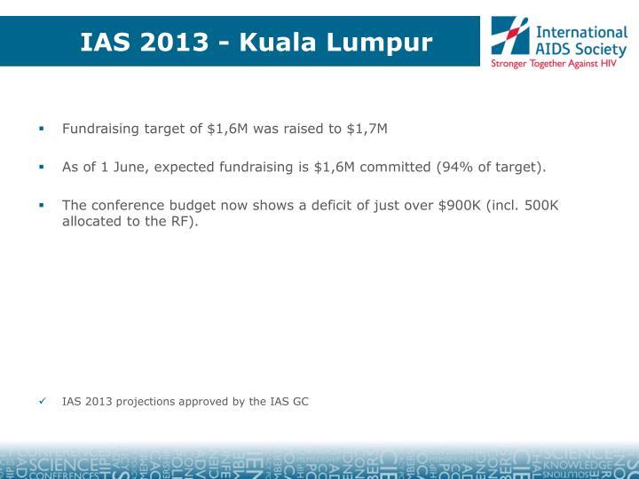 IAS 2013 - Kuala Lumpur