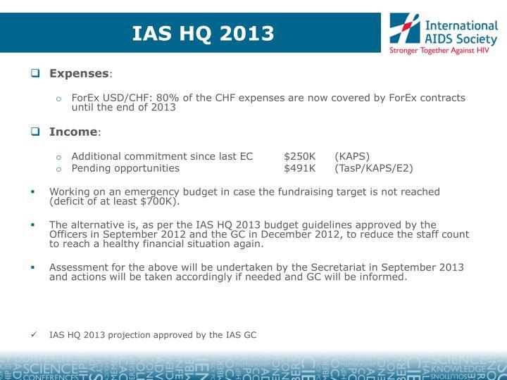 IAS HQ 2013
