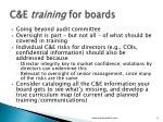 c e training for boards