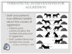 therapeutic interventions for aggression