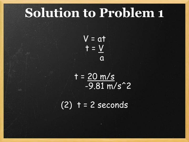 Solution to Problem 1