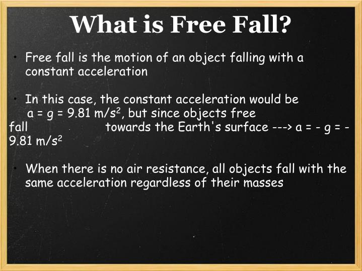 What is free fall