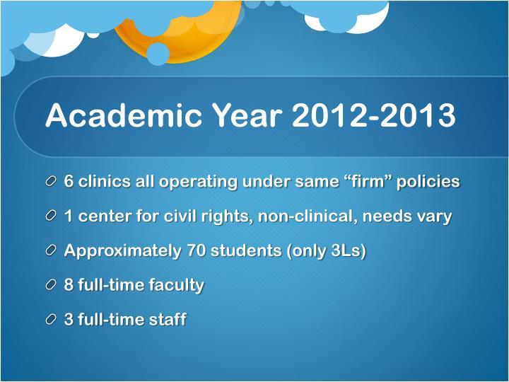 Academic Year 2012-2013