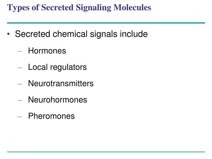 Types of secreted signaling molecules