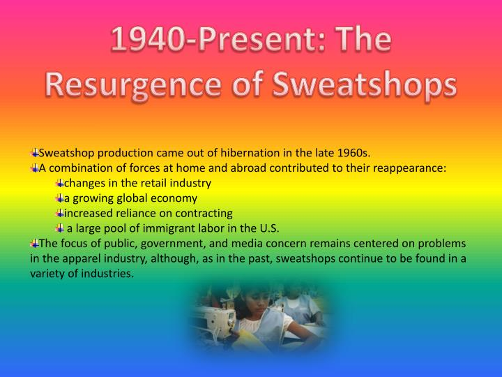 1940-Present: The Resurgence of Sweatshops