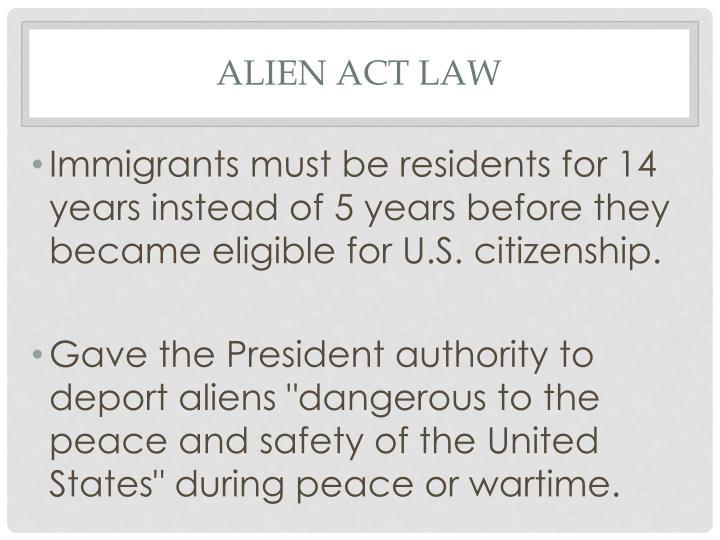 Alien act law