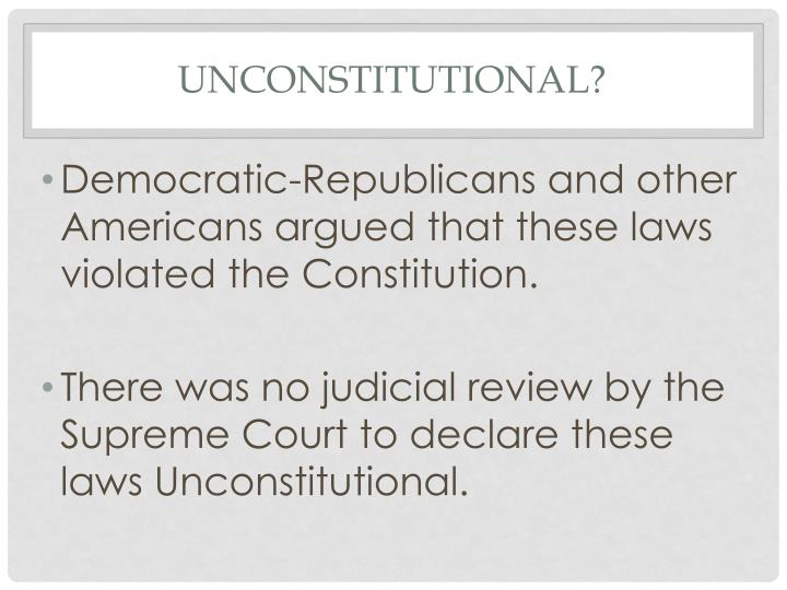 Unconstitutional?
