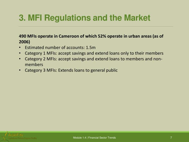 3. MFI Regulations and the Market