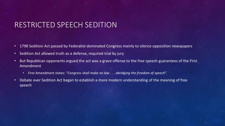the controversy that surrounding the passing of the alien and sedition act in the us in 1798 It describes the united states in 1798 after the passage of the alien and sedition acts  strong government control over individual actions was the sedition act .