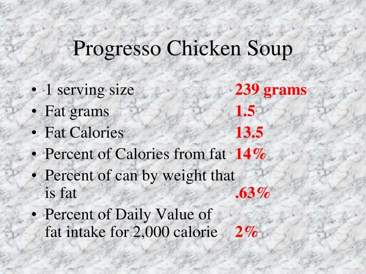 Progresso Chicken Soup