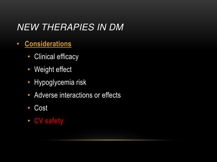 New Therapies in DM