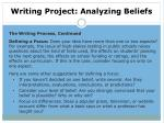 writing project analyzing beliefs4