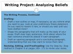writing project analyzing beliefs6