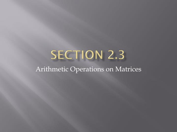 Section 2 3