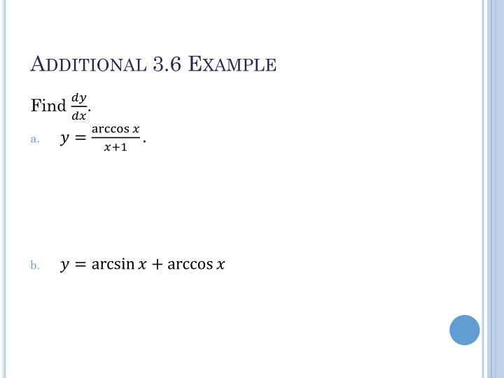 Additional 3 6 example