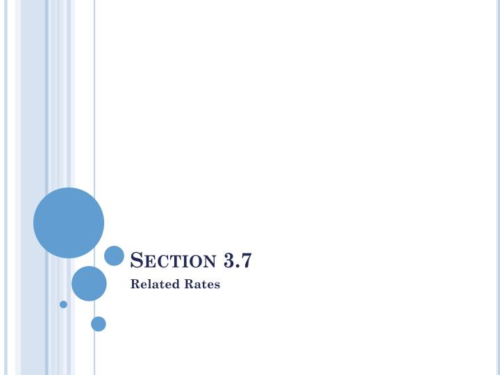 Section 3.7