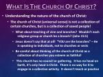what is the church of christ2