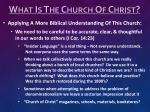 what is the church of christ5