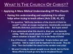 what is the church of christ6