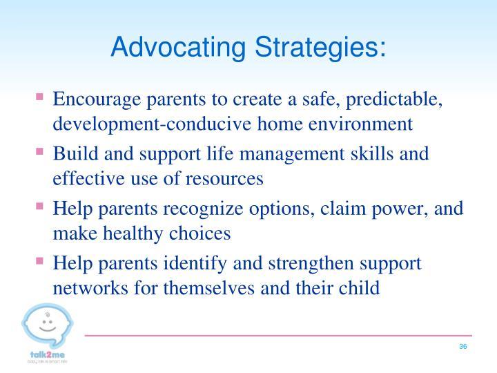 Advocating Strategies: