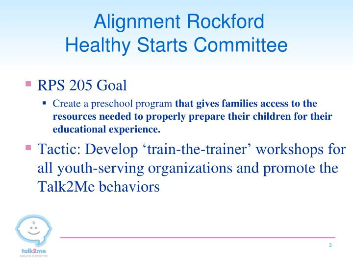 Alignment rockford healthy starts committee