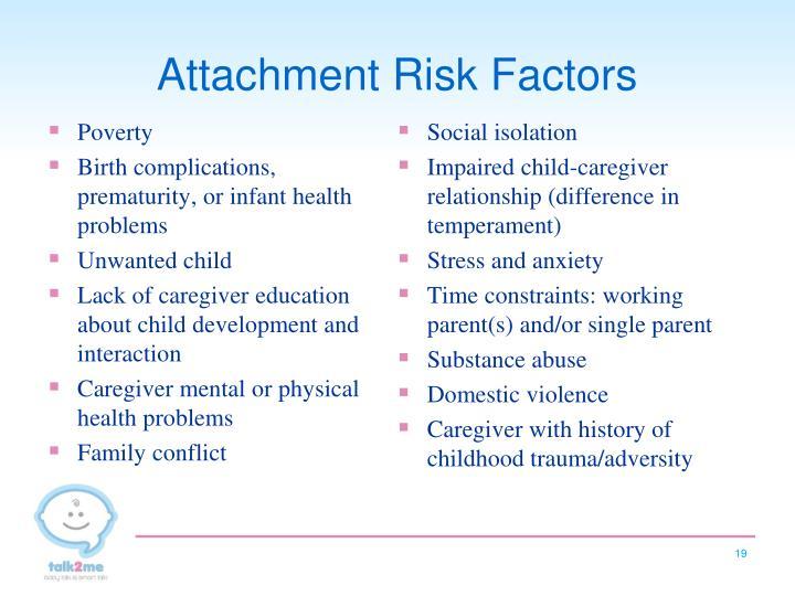Attachment Risk Factors