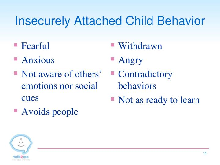 Insecurely Attached Child Behavior