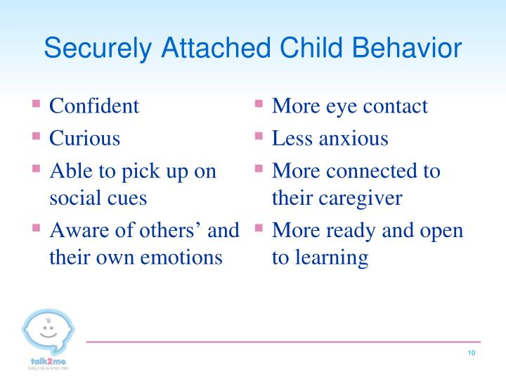 Securely Attached Child Behavior