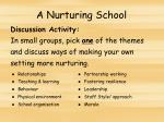 a nurturing school1