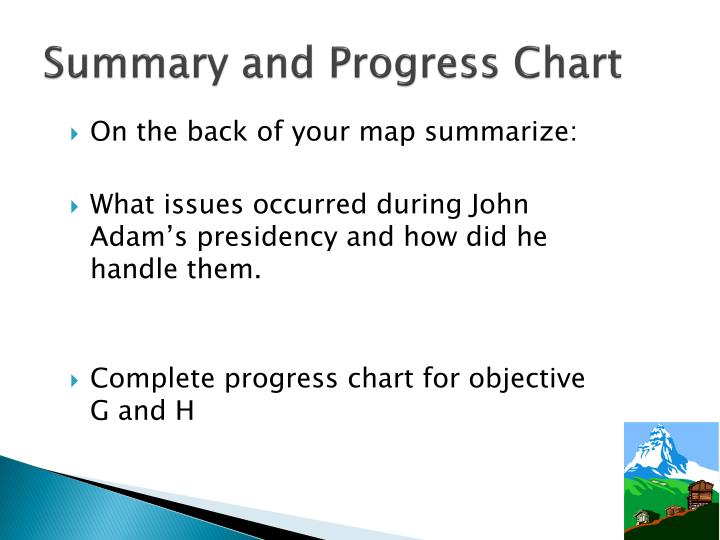 Summary and Progress Chart