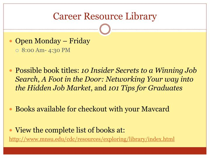 Career Resource Library