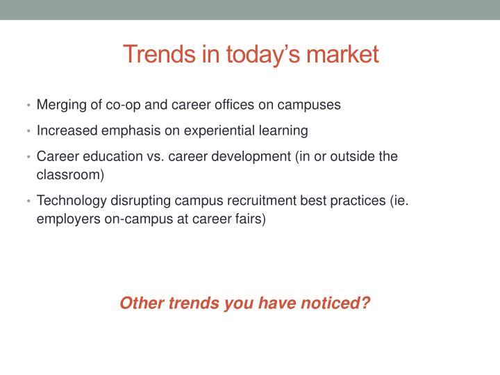 Trends in today's market