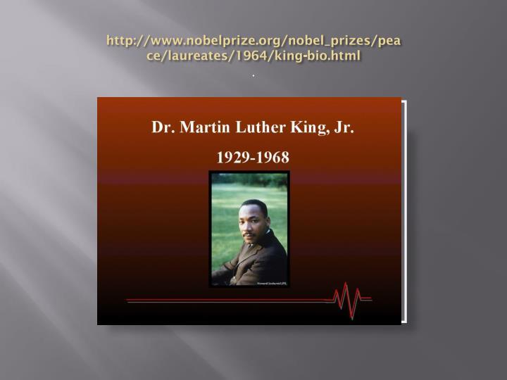 Http www nobelprize org nobel prizes peace laureates 1964 king bio html