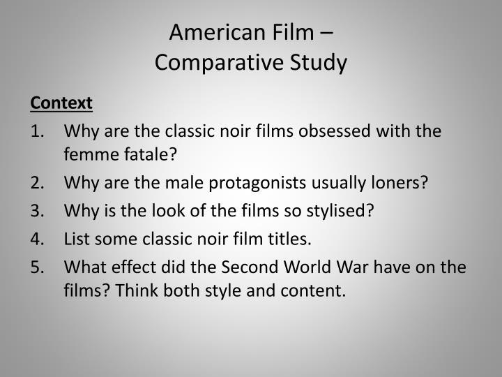 American film comparative study