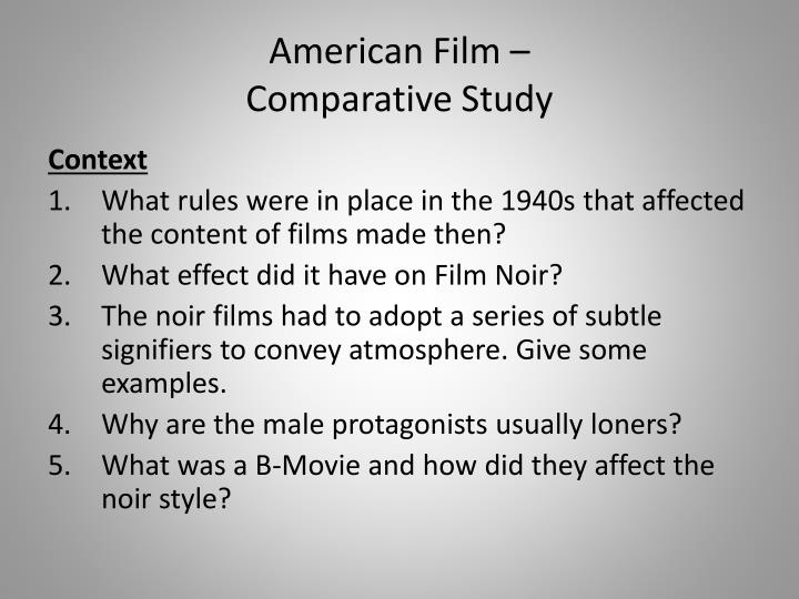 American film comparative study1