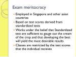 exam meritocracy