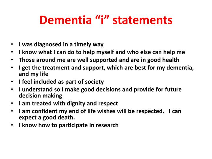 "Dementia """