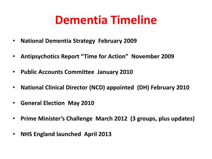 Dementia timeline