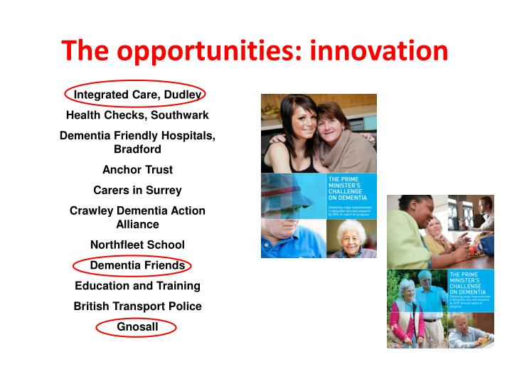 The opportunities: innovation