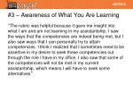 3 awareness of what you are learning