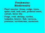 freshwater biodiversity