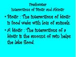 freshwater interactions of biotic and abiotic