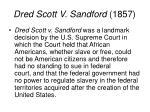 dred scott v sandford 1857