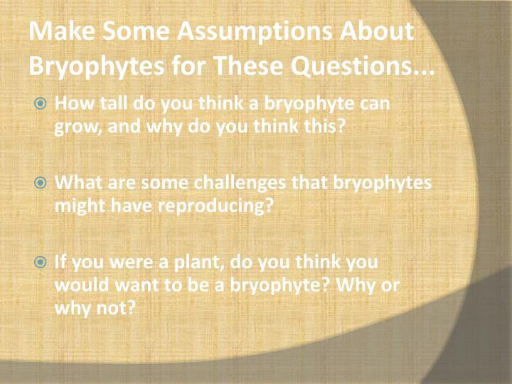 Make Some Assumptions