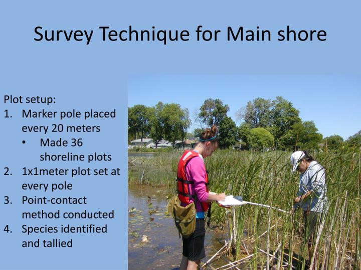 Survey Technique for Main shore