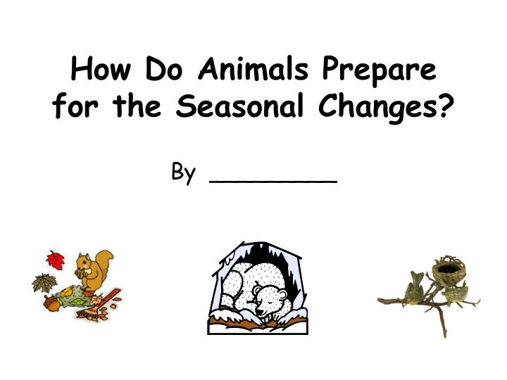 how do animals prepare for the seasonal changes n.