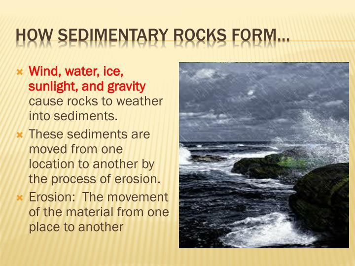 How sedimentary rocks form