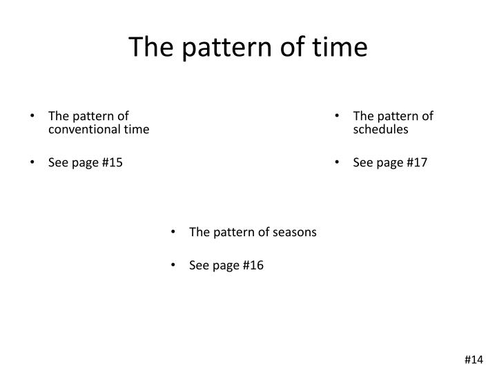 The pattern of time