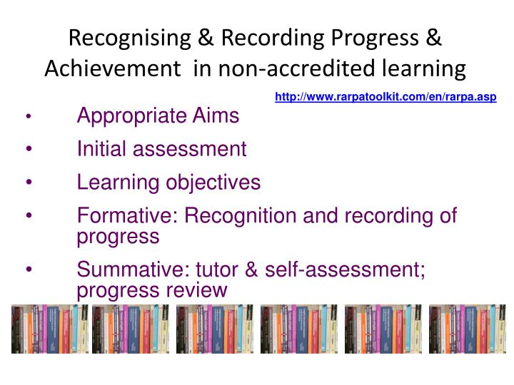 Recognising & Recording Progress & Achievement  in non-accredited learning