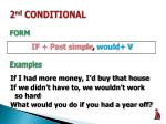 2 nd conditional